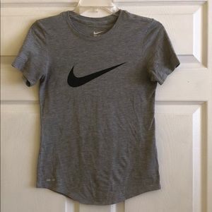 Nike Women's S Gray Dri-Fit Tee